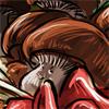 Featuring Mushy le tasty mushroom.  Pour le concours champis. avec des champis japonais et des champis moins japonais. Enfin des champis, quoi.